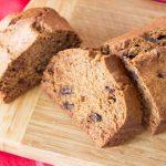 Pumpkin Loaf Cake with chocolate