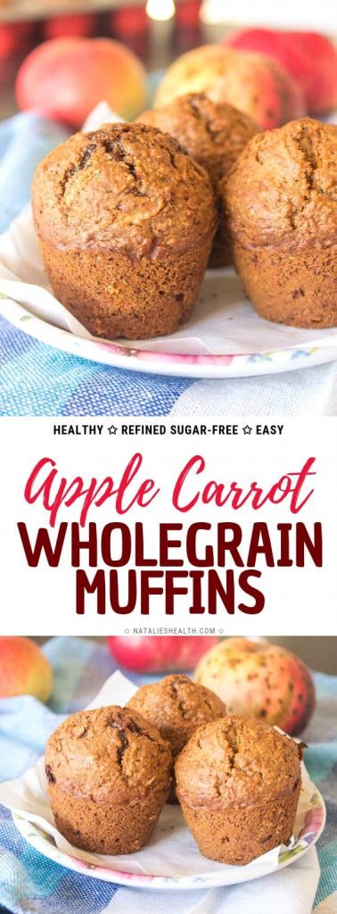 Healthy Apple Carrot Muffins