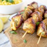 Soy Marinated Chicken Skewers