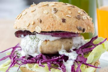 Turkey Burger With Greek Yogurt Sauce