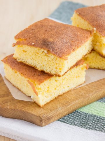 Homemade Cornbread made with cottage cheese