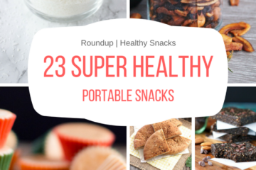 Prep, pack and enjoy these 23 super healthy portable snacks wherever you go - beach, picnic, road trip or in the park with your kiddos. These snacks travel well and will keep you full, happy and healthy. CLICK to read more or PIN for later!