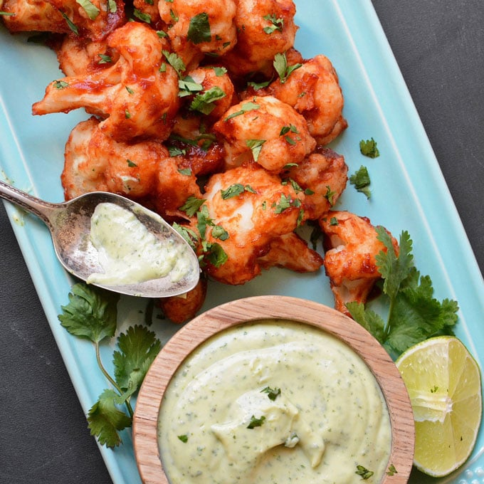 sticky-chipotle-cauliflower-wings-with-avocado-dressing