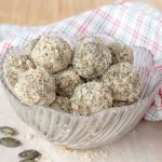 Soft, fragrant, super healthy Pumpkin Seeds Energy Balls made without added sugars. These energy balls are very nutritious, full of fibers, proteins, and healthy fats. An ideal healthy snack between meals. CLICK to grab recipe PIN for later! | Natalie's Food & Health | natalieshealth.com