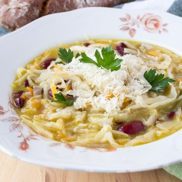 Super healthy and rich in taste, White Wine Cabbage Stew made with fresh cabbage, enriched with freshly grated Parmesan cheese. CLICK to grab recipe or PIN for later!   Natalie's Food & Health