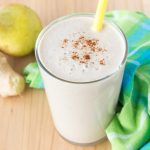 Fragrant and perfectly creamy, Pear Ginger Smoothie made without added sugars. This smoothie is highly nutritious, rich in fibers and proteins, enriched with healing spices. Serve this perfect fall smoothie for breakfast or have as a snack between meals. CLICK to grab recipe or PIN for later!