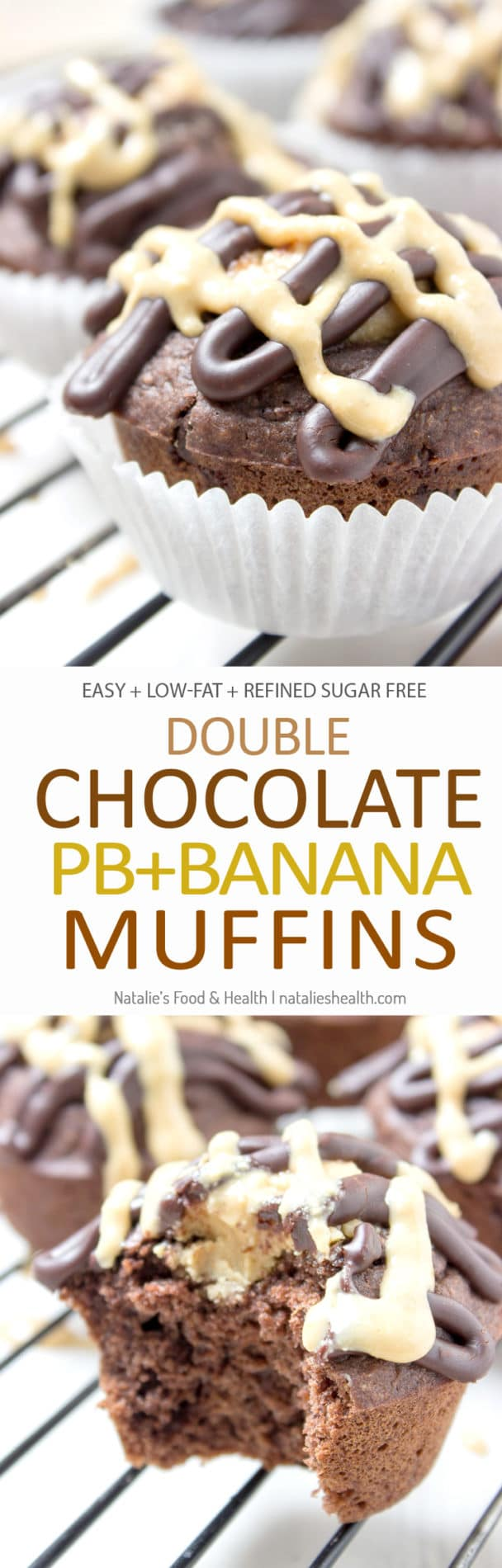 Double Chocolate Banana Muffins - Natalie's Food & Health