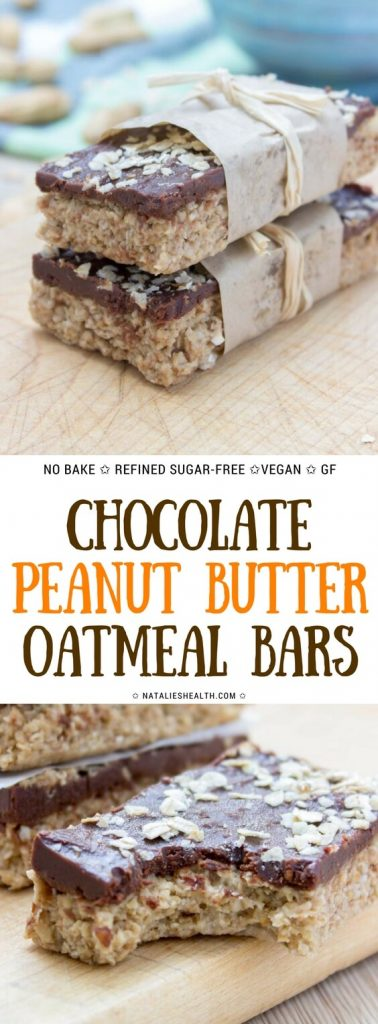 Chocolate Peanut Butter Oatmeal Bars