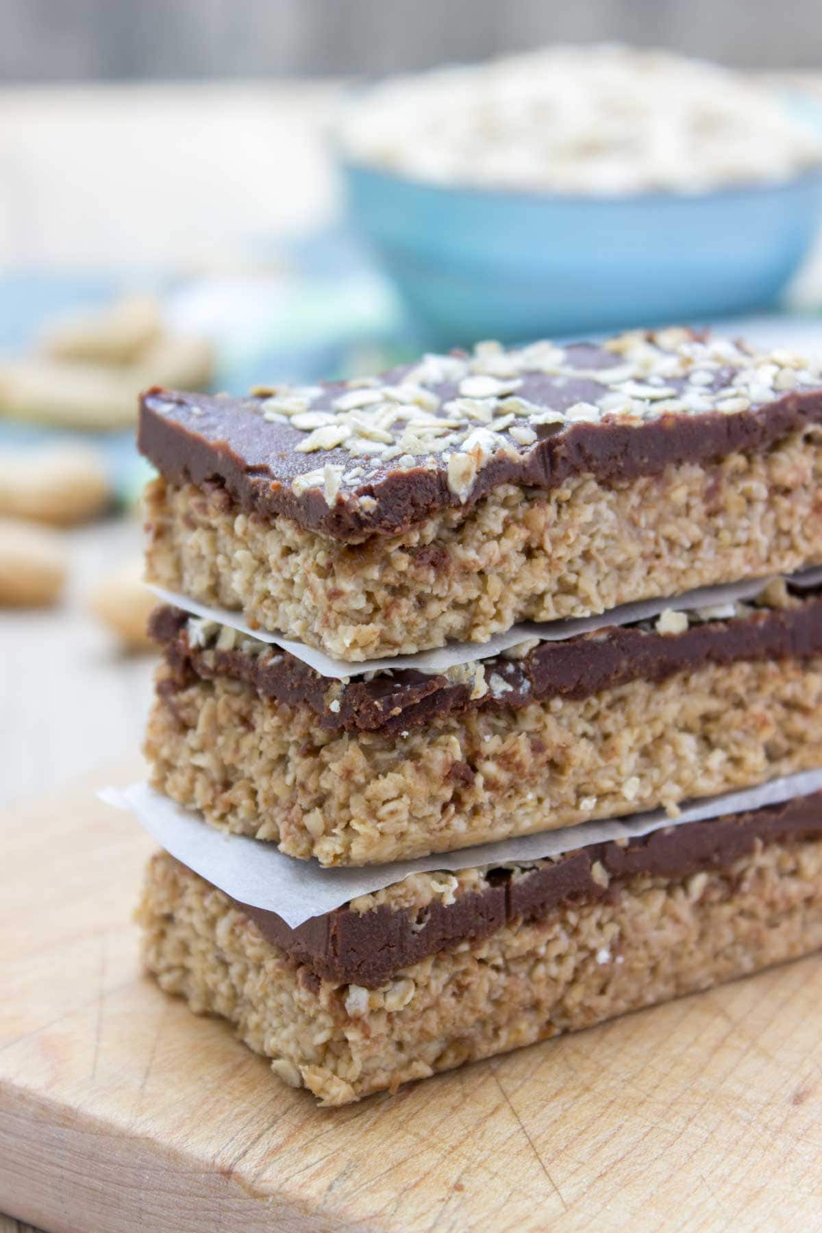 Protein-rich and delicious, No Bake Chocolate Peanut Butter Banana Oatmeal Bars made with all HEALTHY natural ingredients. These bars are vegan, refined sugar-free and gluten-free and packed with healthy dietary fibers. A perfect midday bite, or post workout snack. #vegan #glutenfree #sugarfree #dairyfree #healthy #oatmeal #oats #family #kidsfriendly #whole30 #weightloss #skinny #fit #workout #nobake #raw   natalieshealth.com