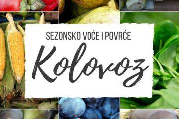 Ilustrirani vodič za voće i povrće koje je trenutno u sezoni KOLOVOZ sa sezonskim receptima. Jer jesti sezonski znači jesti ZDRAVO.