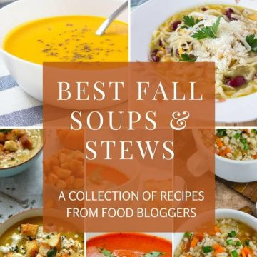 This amazing collection of Fall Soups And Stews Recipes will surely delight you. Nothing warms better than a warm bowl of soup or veggie stew on a cold day. #fall #soup #stew #vegetable #seasonal #autumn #vegan #glutenfree #healthy #recipe #vegetarian #skinny #winter | www.natalieshealth.com