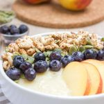 Thick, creamy and irresistible sweet Pineapple Peach Smoothie Bowl is a perfect weekend breakfast. It's packed with healthy fibers, vitamins, plant based proteins, and HEALTHY omega-3. It's an easy way to turn a healthy smoothie into a whole meal. #vegan #glutenfree #sugarfree #paleo #sugarfree #healthy #dairyfree #smoothie #breakfast #kidsfriendly #snack #whole30 | natalieshealth.com