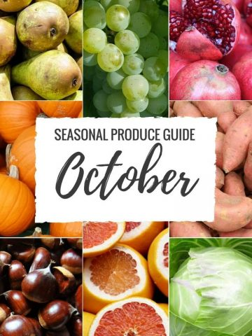 """Produce Guide """"What's in Season OCTOBER"""""""