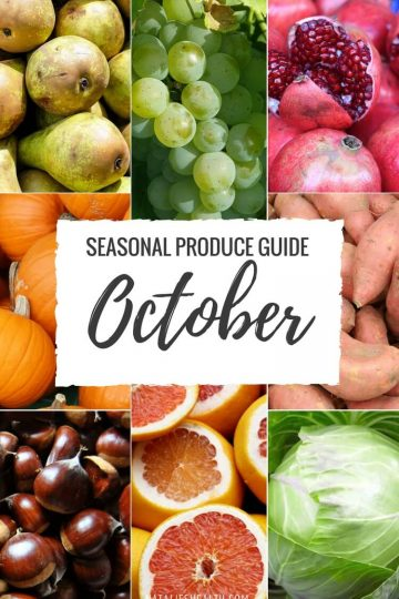 Seasonal Produce Guide What's in Season OCTOBER is a collection ofthe best fruits, veggies, and recipes for the month of September. #FALL #SEASONAL #FRUITS #VEGGIES #GUIDE | natalieshealth.com