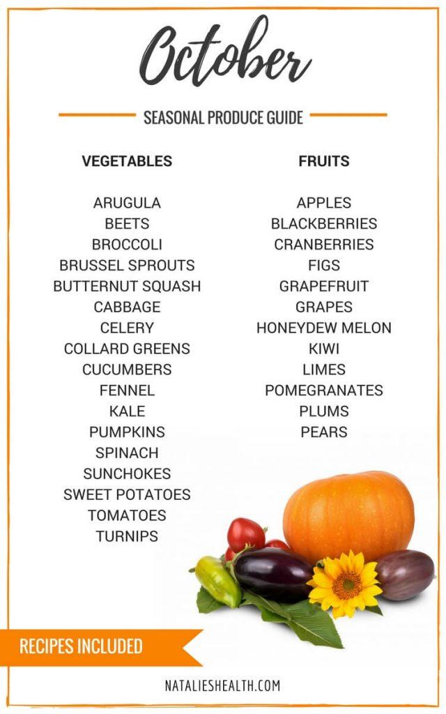 Seasonal Produce Guide What's in Season OCTOBER