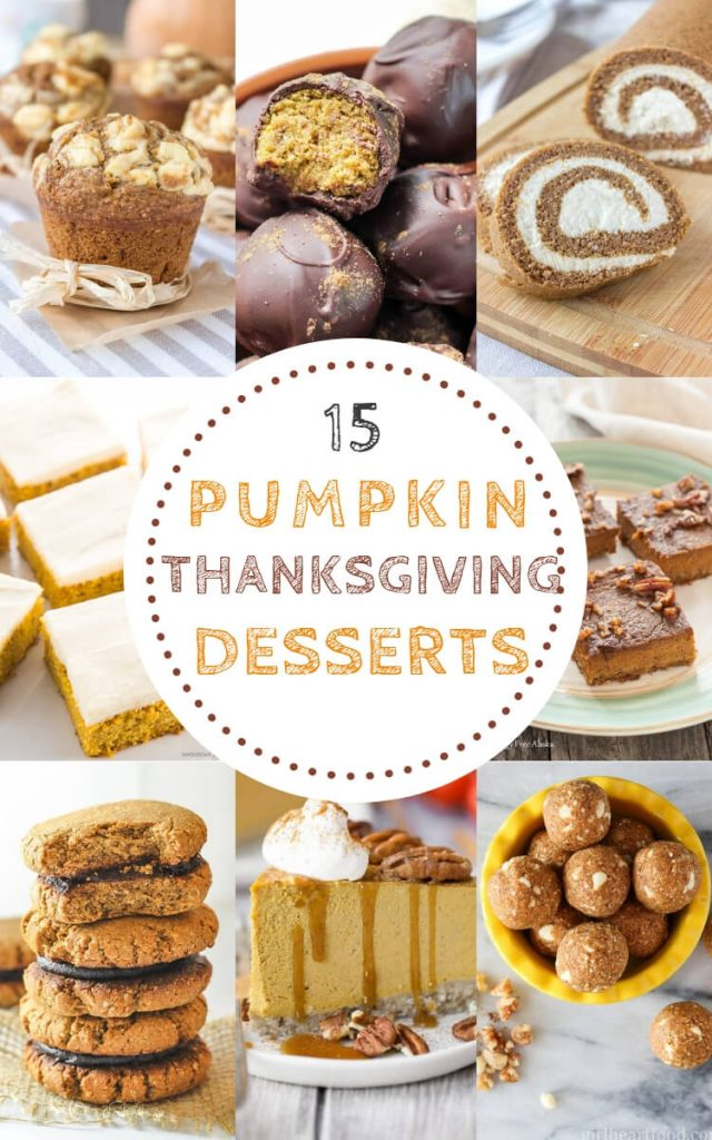 15 Pumpkin Thanksgiving Desserts