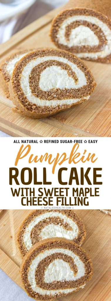 Pumpkin Cream Cheese Roll Cake