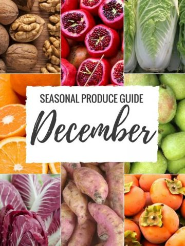 """Produce Guide """"Whats in Season DECEMBER"""" is a collection ofbest HEALTHY recipes featuring seasonal fruits and veggies for the month December. #seasonal #winter #fall #fruit #vegetables #guide #healthy #produce #food #december #recipes   www.natalieshealth.com"""