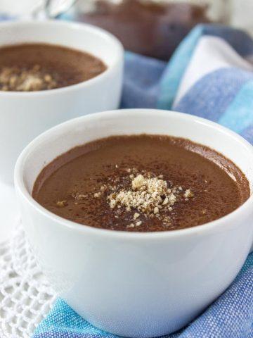 Easy homemade superfood Cacao Turmeric Maca Hot Chocolate