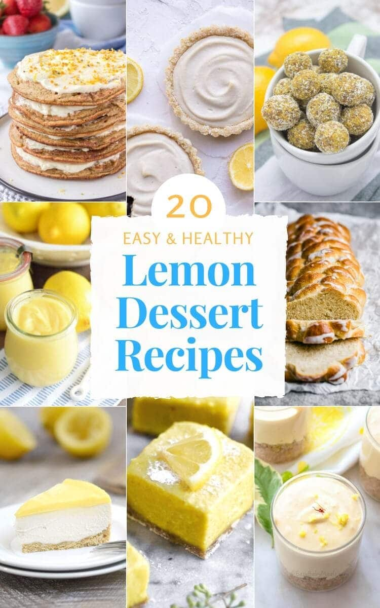 20 Easy Healthy Lemon Dessert Recipes