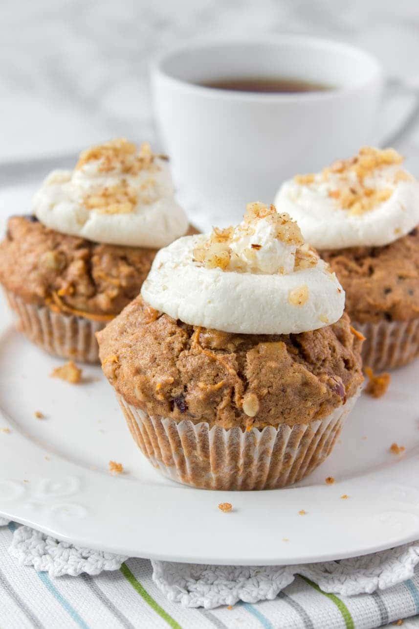 Ginger Carrot Cake Muffins