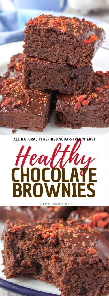 Healthy Chocolate Tahini Brownies