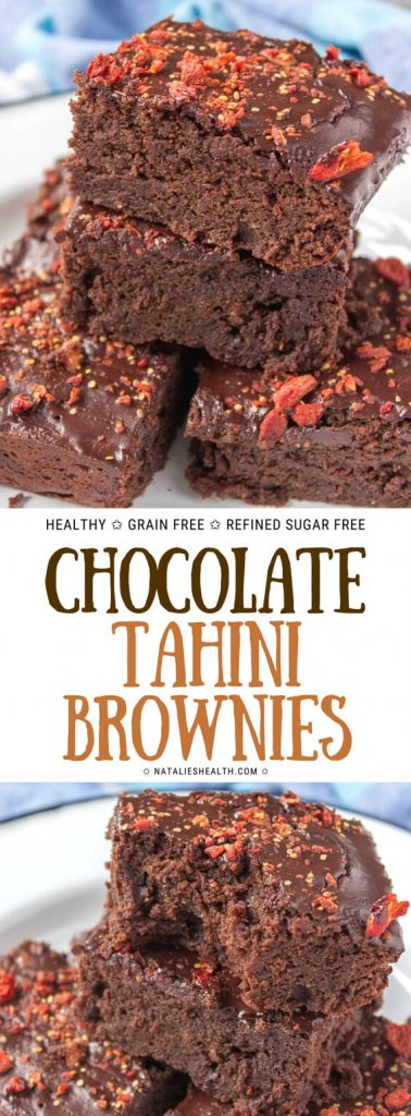 Chocolate Tahini Brownies