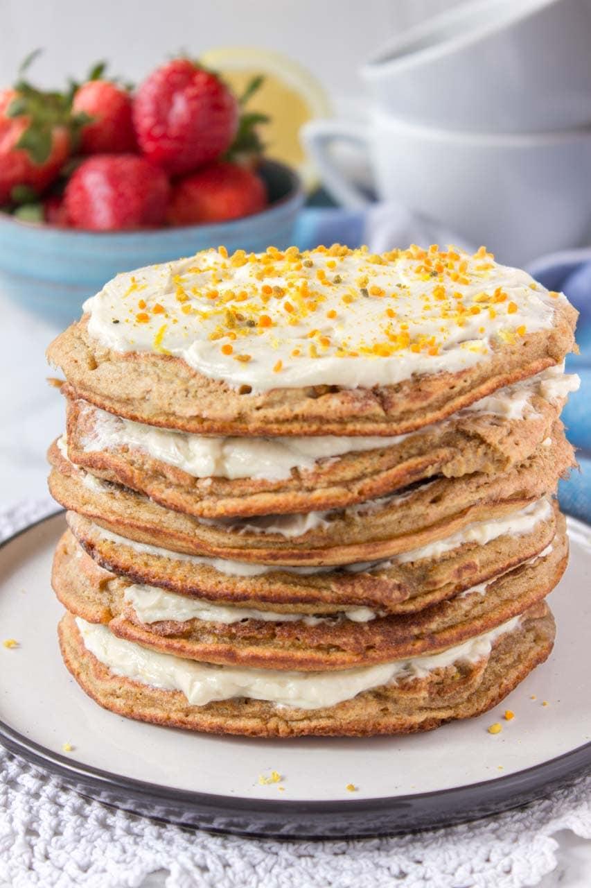 lemon cardamom pancakes natalie s happy health