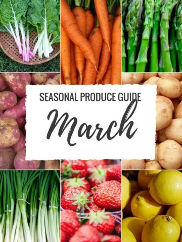 """Produce Guide """"What's in Season MARCH"""""""
