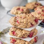 Strawberry Oatmeal Cookies with fresh strawberries and walnuts