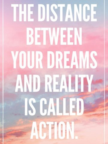 The distance between your dreams and reality is called action Motivational QUOTES Monday Motivation