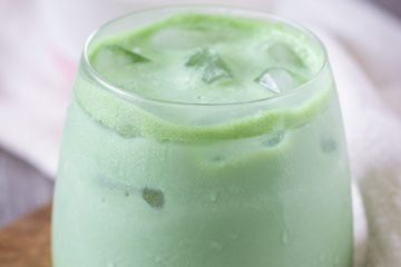 Iced Coconut Matcha green tea Latte