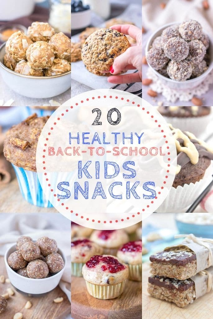A roundup of 20 Healthy Back To School Kids Snacks