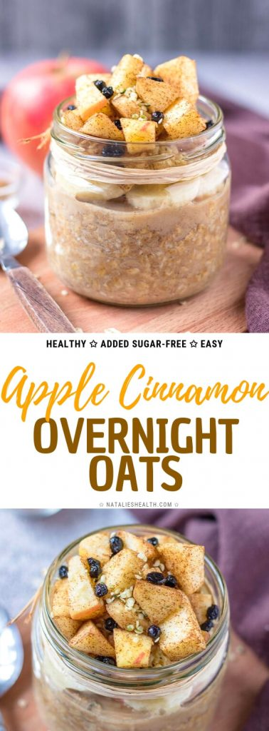 Healthy Apple Cinnamon Overnight Oats