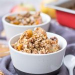 Easy Apple Pear Crisp with oats