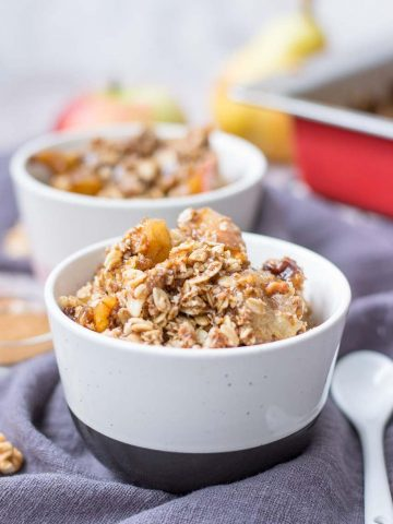 Easy Apple Pear Crisp with oats