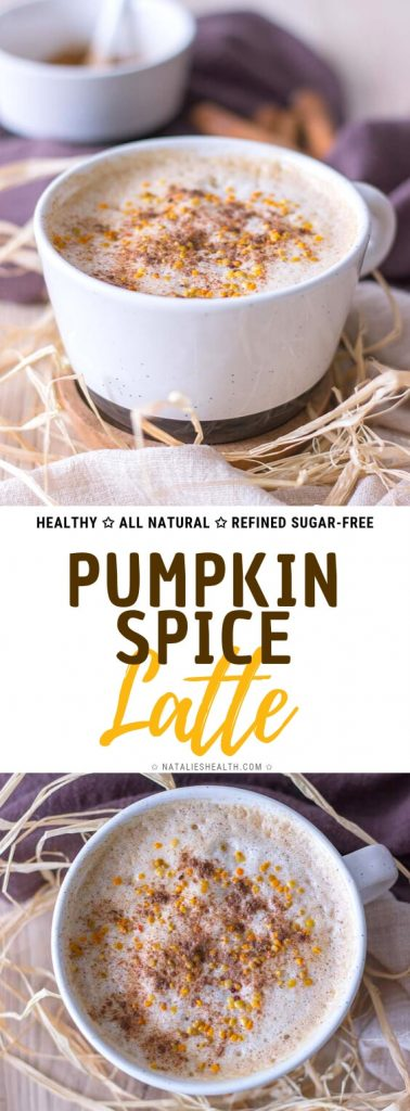 Healthy homemade Pumpkin Spice Latte recipe