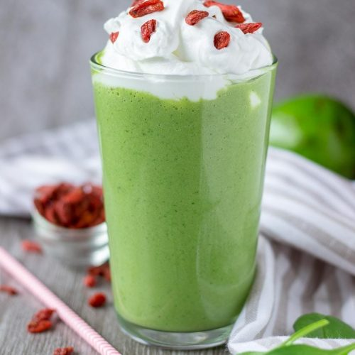 Matcha Smoothie with matcha green tea avocado and spinach