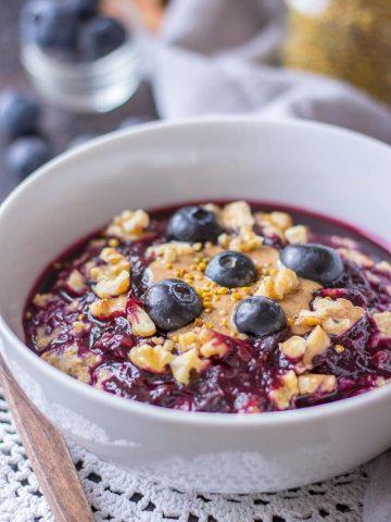 Blueberry Oatmeal Porridge