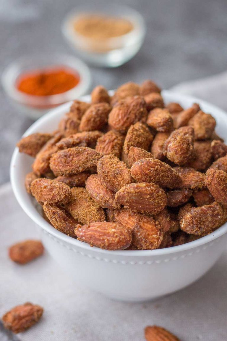 Spicy Cinnamon Roasted Almonds