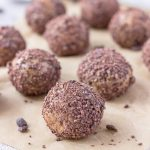 6 ingredient Vegan Gluten Free No Bake Peanut Butter Balls with Chocolate Chips