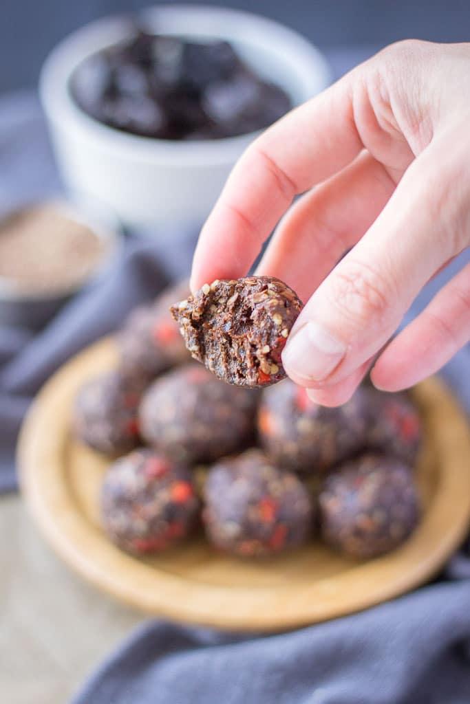 Healthy Chocolate Prune Energy Balls recipe