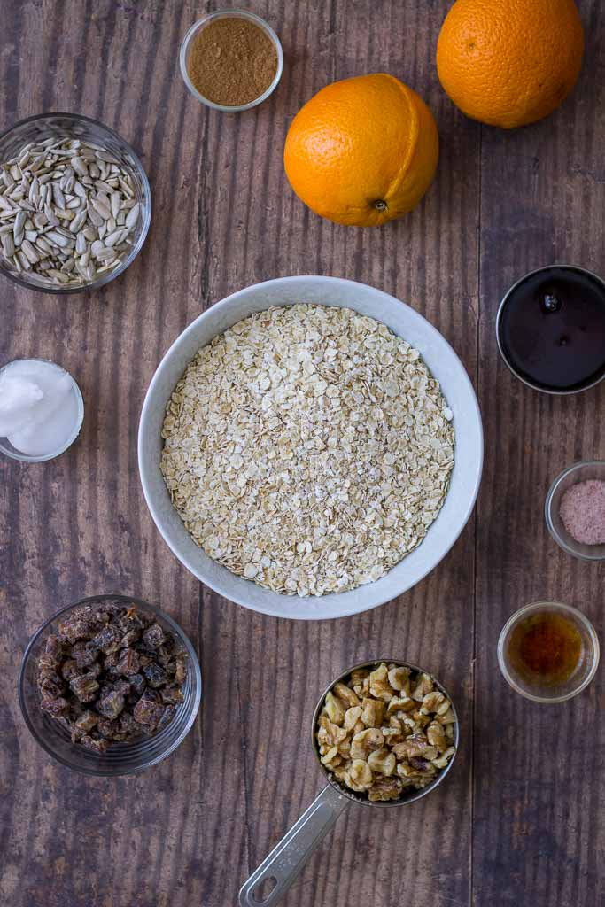 Cinnamon Orange Granola recipe ingridients