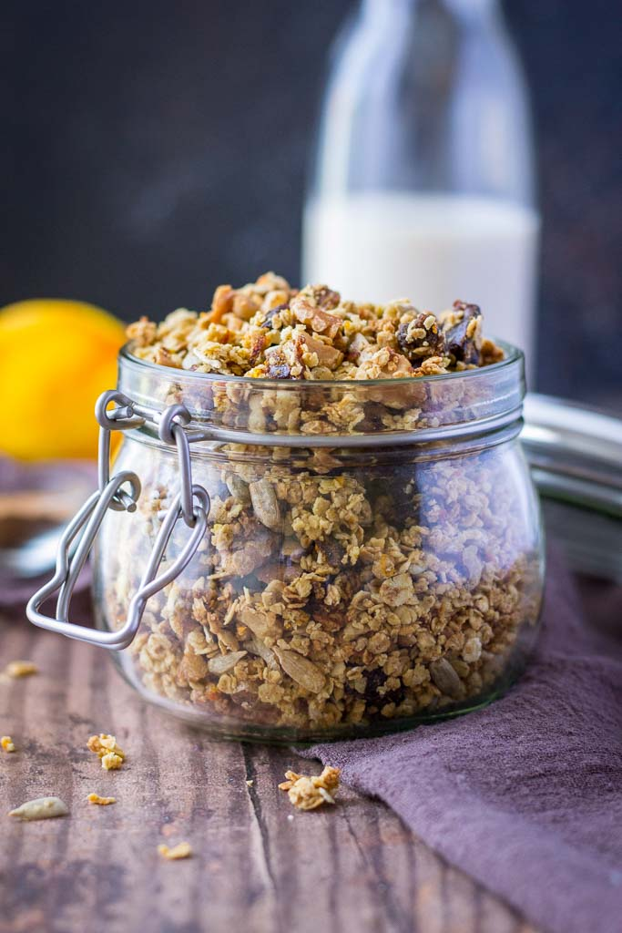 Homemade Cinnamon Orange Granola recipe