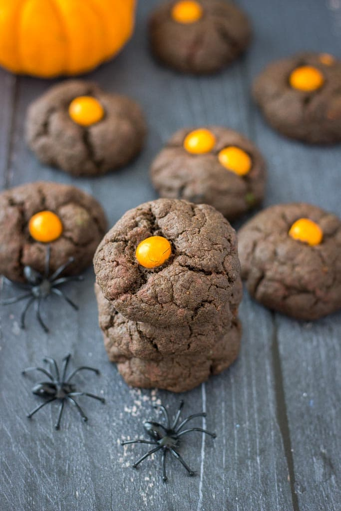 Healthy Halloween Dark Chocolate Cookies