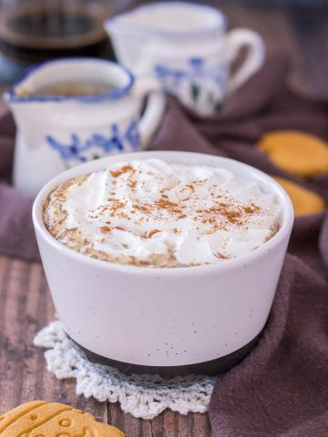 Homemade Gingerbread Latte made with gingerbread flavored syrup