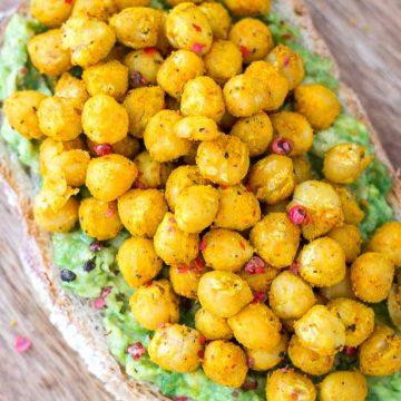Turmeric Chickpea Avocado Toast