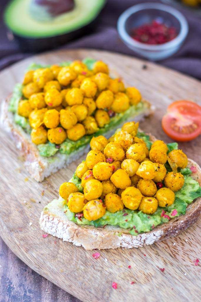 Turmeric Roasted Chickpea Avocado Toast