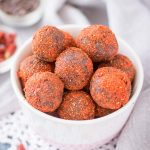 Chocolate Maca Balls with goji berries and walnuts
