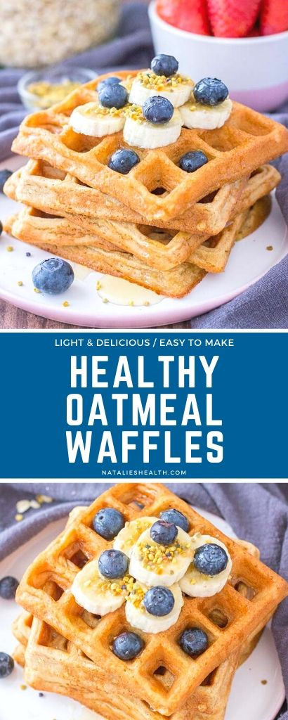 Light, fluffy, and incredibly delicious, these healthy Oatmeal Waffles will make any breakfast or brunch complete! They are made with WHOLESOME ingredients, without REFINED SUGARS. Super simple and taste amazing.